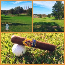 Traveling CAO Cigar at the Crab Meadow Golf Course