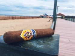 Traveling CAO cigar at Crab Meadow Beach in Northport